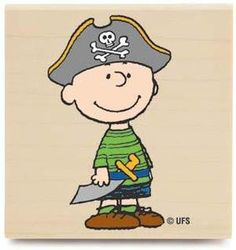Charlie Brown as a pirate