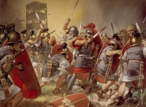 The Battle of Alesia - painting