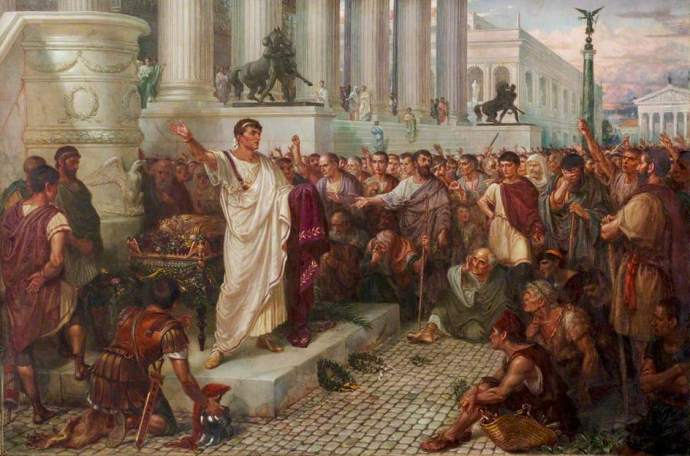 classic painting of Ancient Rome