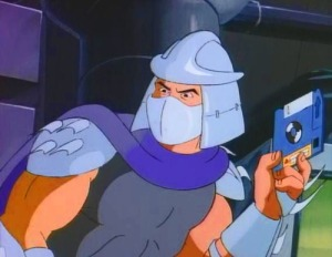 Shredder with floppy disc