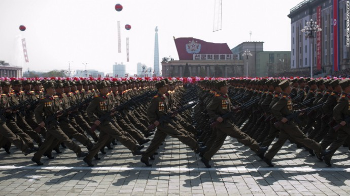 North Korean military march