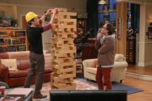 """Big Bang Theory"" - Giant Jenga"