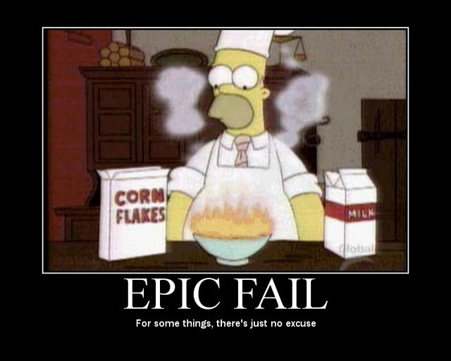 EPIC FAIL - Homer Simpson