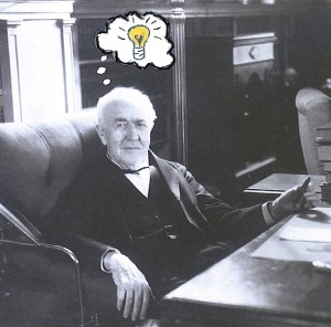 Edison - light bulb idea