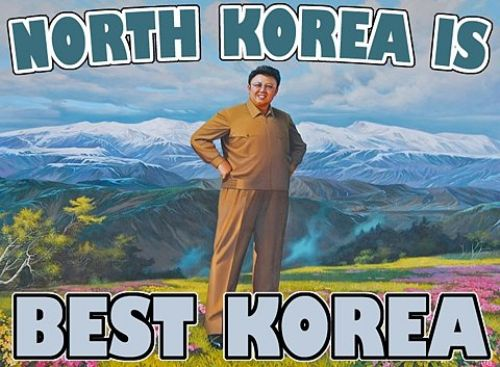 North Korea is Best Korea (smiling Kim Jong-Il)