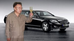 Kim's western luxuries: Brandy and a Mercedes Benz