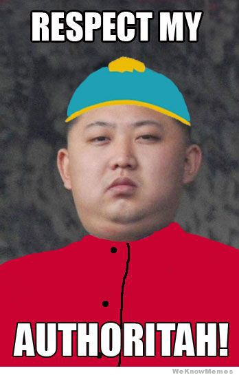 Kim Jong-un 'Respect my Authoritah!' (South Park)