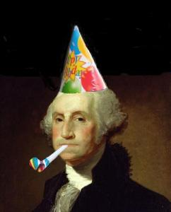 Washington's B-Day (party hat)