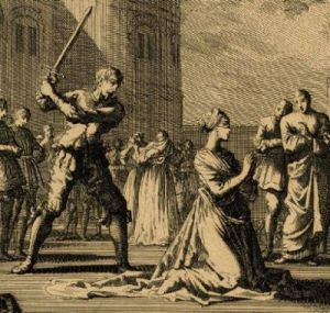 the beheading of Anne Boleyn