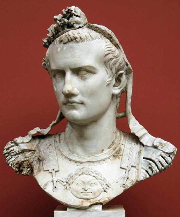 Cuirass bust of Caligula. Marble. 37—41 A.D. Inv. No. 1453. Copenhagen, New Carlsberg Glyptotek.